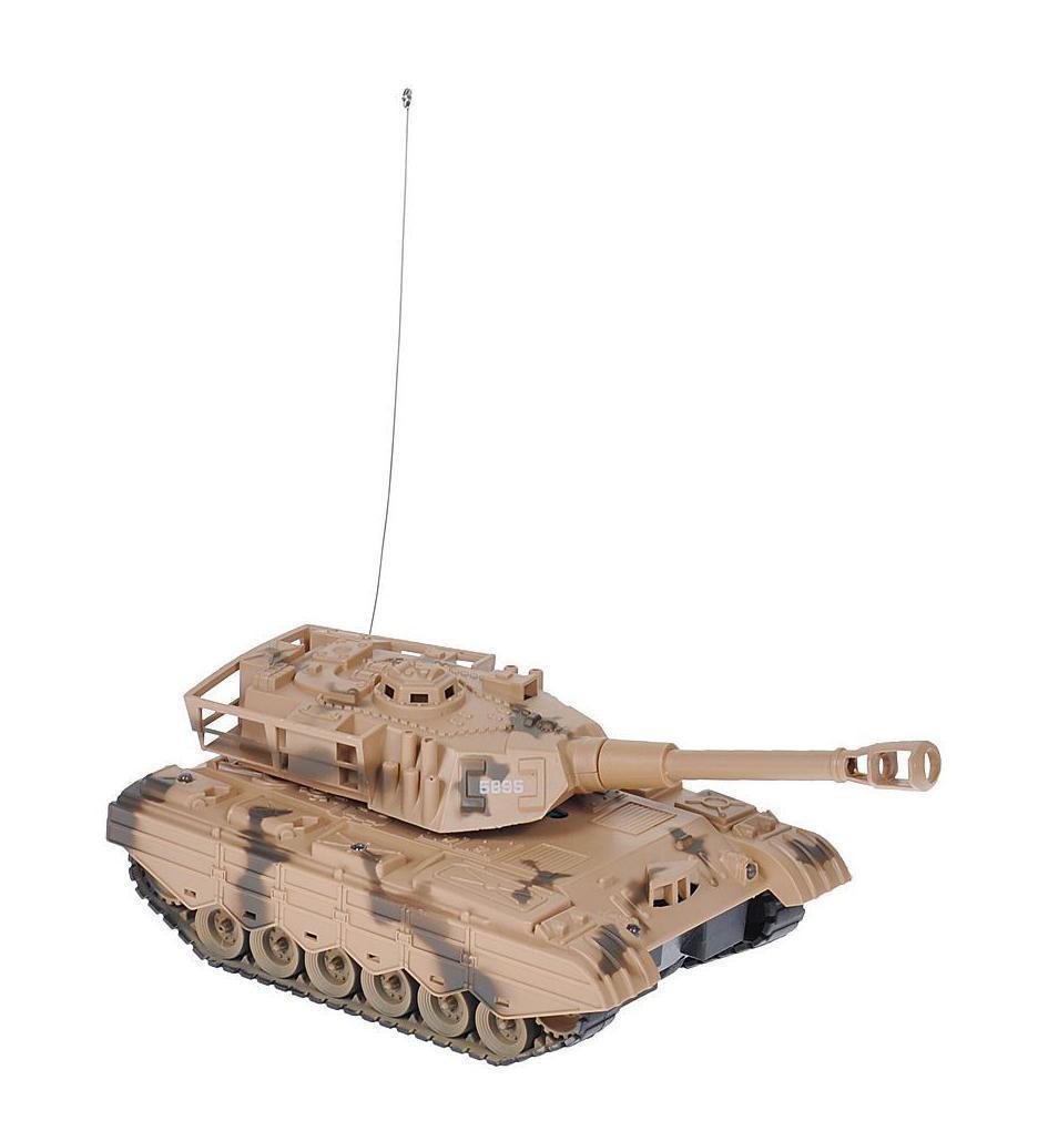 Радиоуправляемая модель Junfa Toys Танк, со световыми и звуковыми эффектами, цвет: коричневый5892_5895 коричневыйВсе дети хотят иметь в наборе своих игрушек ослепительные, невероятные и крутые танки на радиоуправлении. Тем более если это танк с мировым именем, с проработкой всех деталей, удивляющий приятным качеством и видом. Радиоуправляемая модель Junfa Toys «Танк» - отличный подарок не только ребенку, но и взрослому. Танк на гусеничном ходу изготовлен из прочного пластика и воспроизводит звуки движущейся машины и звук выстрела. Модель обладает неповторимым провокационным стилем и спортивным характером, а серьезные габариты придают реалистичность в управлении. Танк отличается потрясающей маневренностью, динамикой и покладистостью. Во время движения на на нем горят прожектора. Гусеницы изготовлены из пластика. При помощи пульта управления танк может двигаться вперед, назад, поворачивать влево и вправо, разворачиваться.