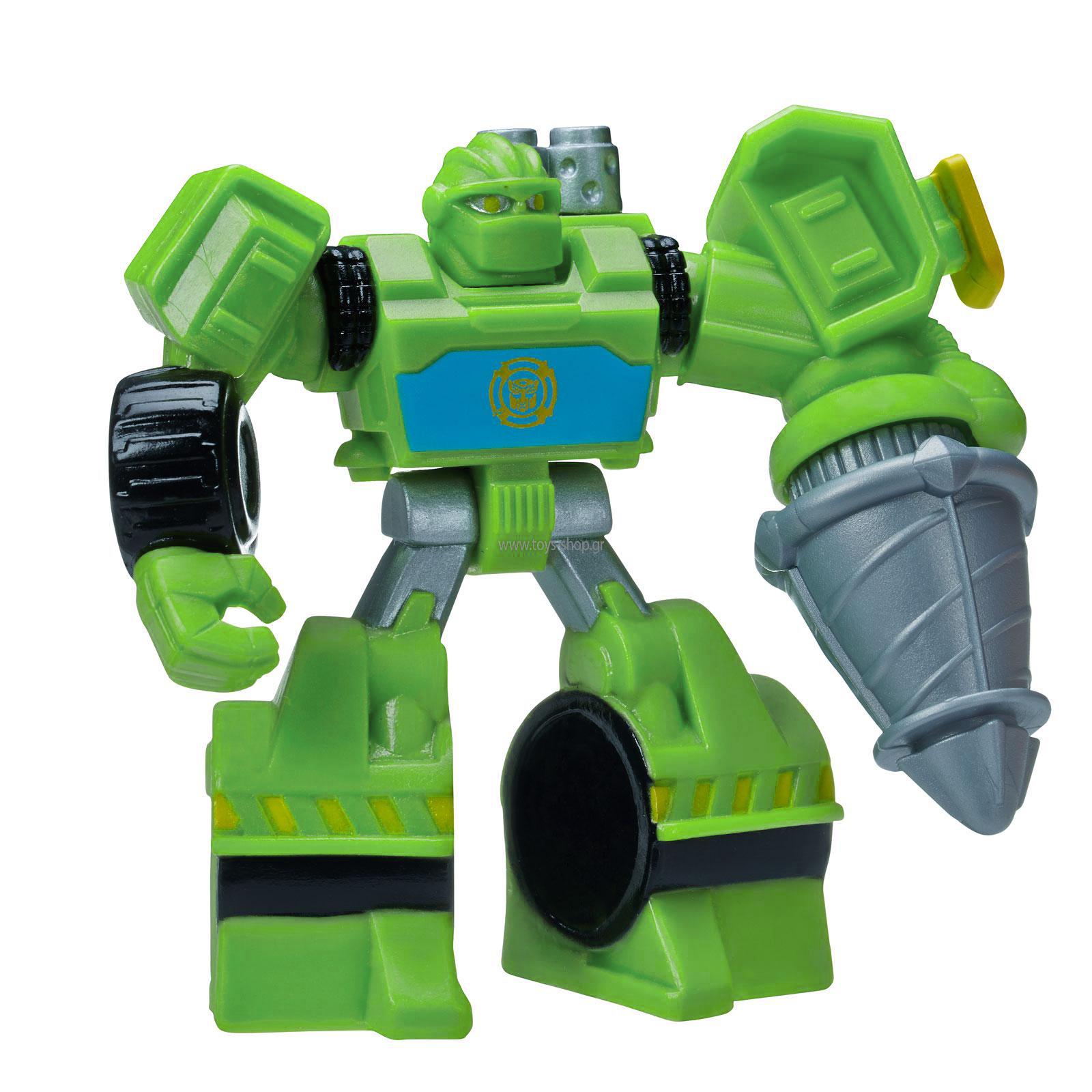 Фигурка Playskool Transformers. The Construction-Bot, цвет: салатовыйB4954EU4Фигурка Construction-Bot из серии Transformers обязательно порадует малыша. Он будут отчаянно сражаться с противниками вместе с другими трансформерами и вашим маленьким героем! Руки и ноги трансформера подвижны. Если нажать кнопку на левом плече, то оружие, которое находится в руке Construction-Bot начинает вращаться. Небольшой размер фигурки, выполненной из безопасных материалов, разработан специально для маленьких детских ручек. Придумывать различные увлекательные сюжеты вместе с героями Rescue Bots станет еще интереснее, ведь вы можете собрать целую коллекцию!