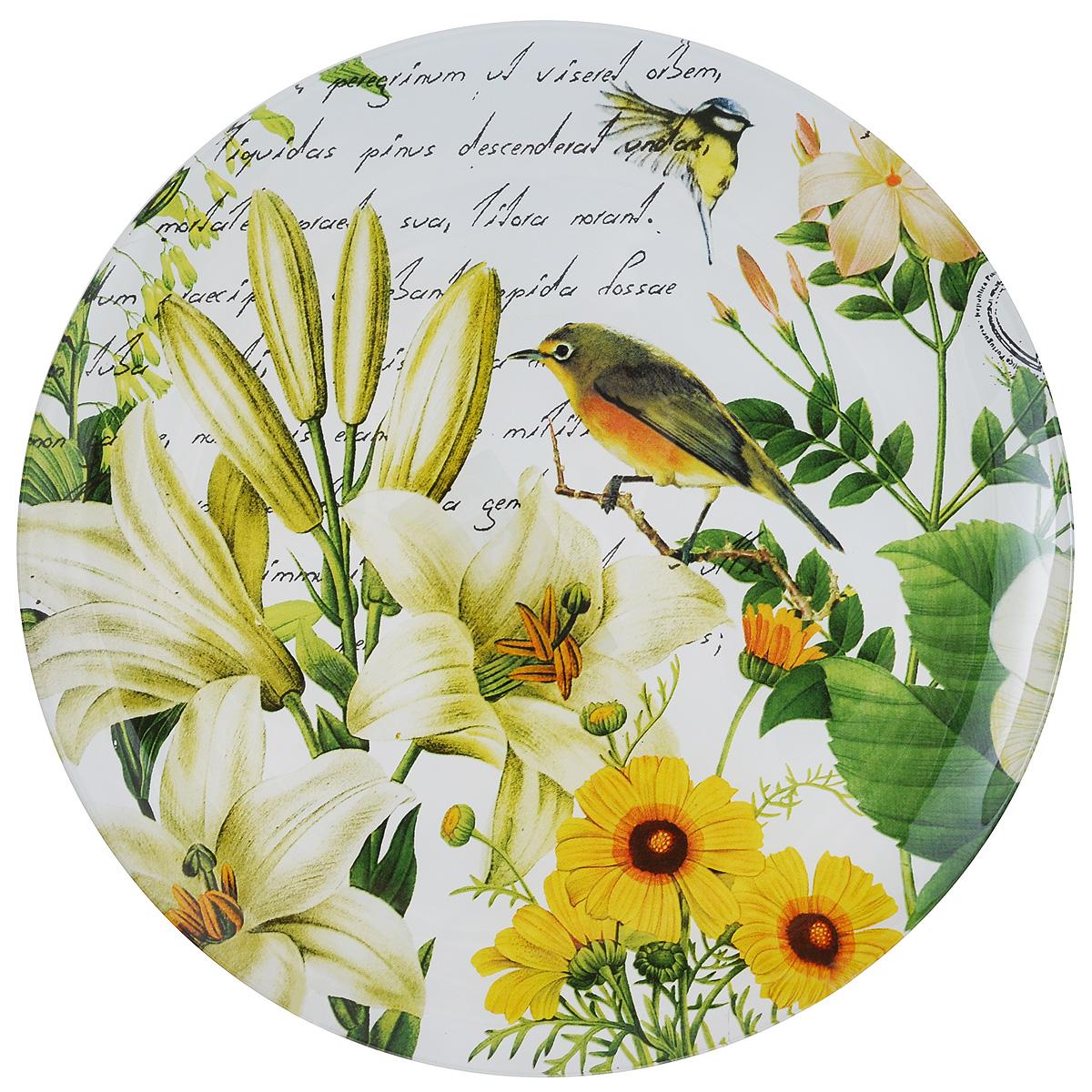 Тарелка Zibo Shelley Роза садовая, диаметр 25 смZSGR3010L076Круглая тарелка Zibo Shelley Роза садовая, изготовленная из стекла, декорирована ярким изображением цветов. Она не только украсит сервировку вашего стола и подчеркнет прекрасный вкус хозяйки, но и станет отличным подарком. Можно использовать в посудомоечной машине и СВЧ. Диаметр: 25 см. Высота: 1,5 см.