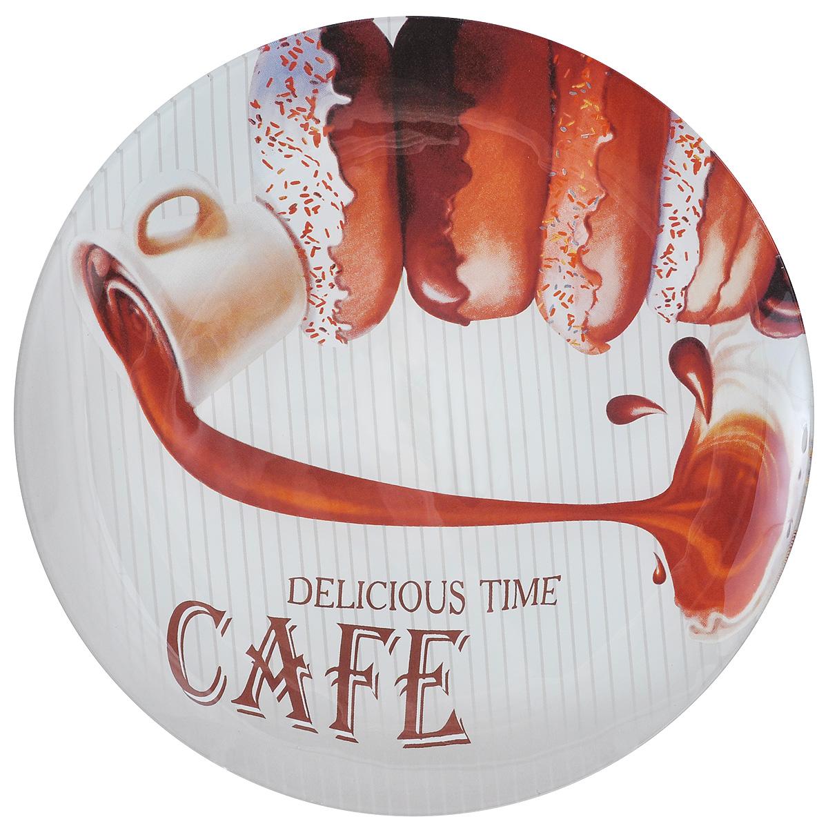 Тарелка Zibo Shelley Пончики. Крем, диаметр 25 смZSDC3110Круглая тарелка Zibo Shelley Пончики. Крем, изготовленная из стекла, декорирована ярким изображением. Она не только украсит сервировку вашего стола и подчеркнет прекрасный вкус хозяина, но и станет отличным подарком. Можно использовать в посудомоечной машине и СВЧ. Диаметр: 25 см. Высота: 1,5 см.