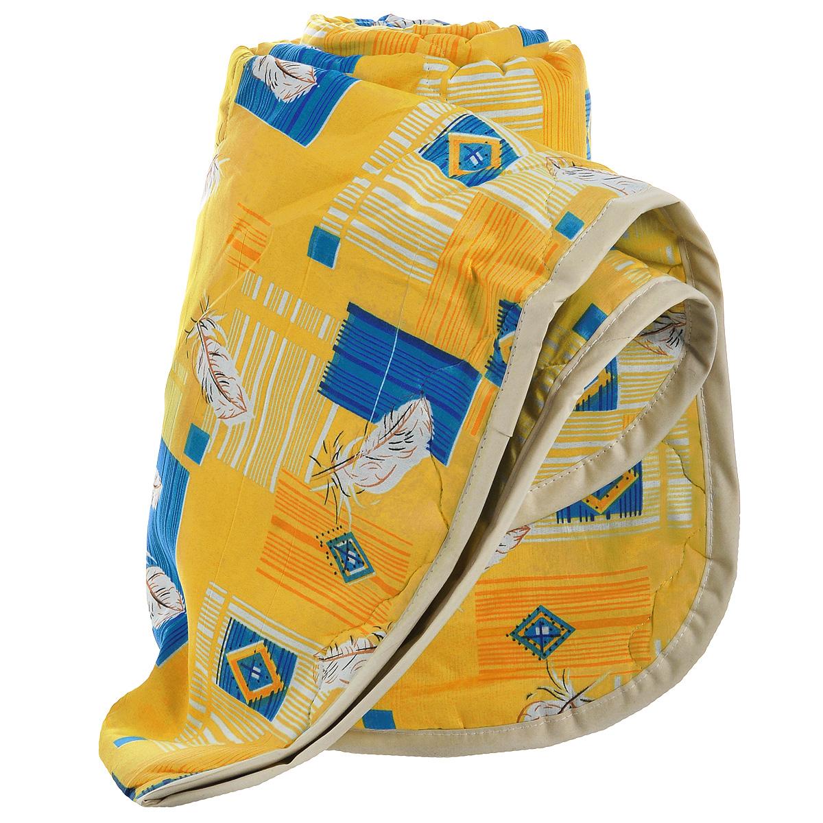 Одеяло всесезонное OL-Tex Miotex, наполнитель: полиэфирное волокно Holfiteks, цвет: желтый, синий, 140 см х 205 смМХПЭ-15-3_желтый, синийВсесезонное одеяло OL-Tex Miotex создаст комфорт и уют во время сна. Стеганый чехол выполнен из полиэстера и оформлен красочным рисунком. Внутри - современный наполнитель из полиэфирного высокосиликонизированного волокна Holfiteks, упругий и качественный. Холфитекс - современный экологически чистый синтетический материал, изготовленный по новейшим технологиям. Его уникальность заключается в расположении волокон, которые позволяют моментально восстанавливать форму и сохранять ее долгое время. Изделия с использованием Холфитекса очень удобны в эксплуатации - их можно часто стирать без потери потребительских свойств, они быстро высыхают, не впитывают запахов и совершенно гиппоаллергенны. Холфитекс также обеспечивает хорошую терморегуляцию, поэтому изделия с наполнителем из холфитекса очень комфортны в использовании. Одеяло с современным упругим наполнителем Холфитекс порадует вас в любое время года. Оно комфортно согревает и создает отличный микроклимат. За одеялом легко...