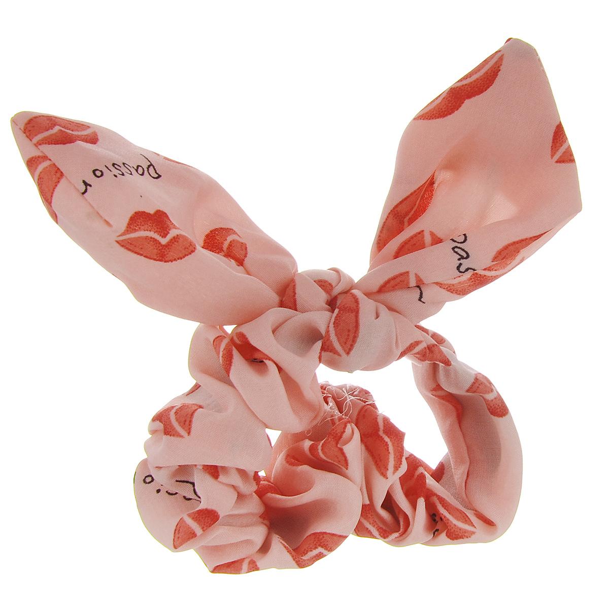 Заколка Хеагами Поцелуй, цвет: розовый, красныйЗХп_розовый/красный