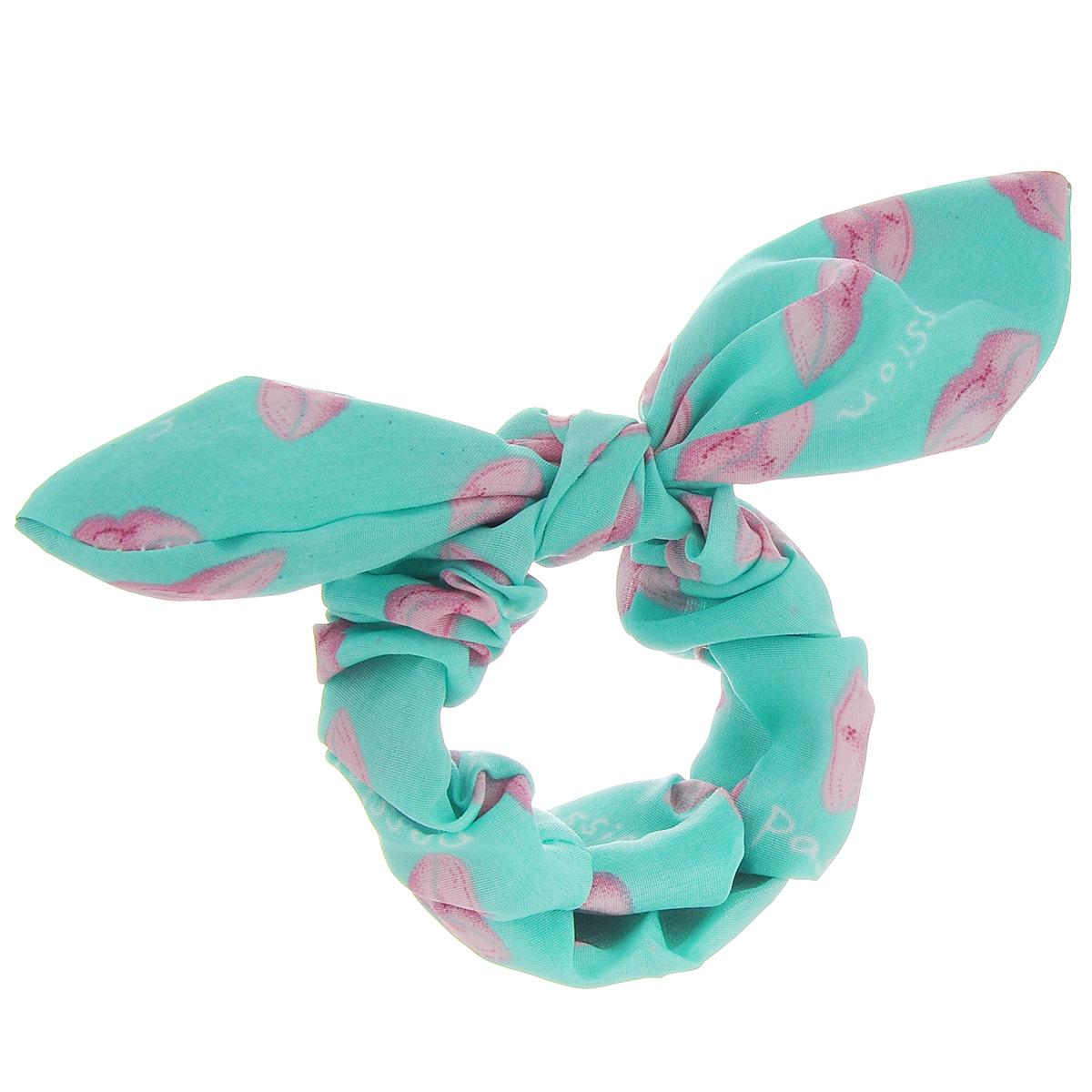 Заколка Хеагами Поцелуй, цвет: зеленый, розовыйЗХп_зеленый/розовый