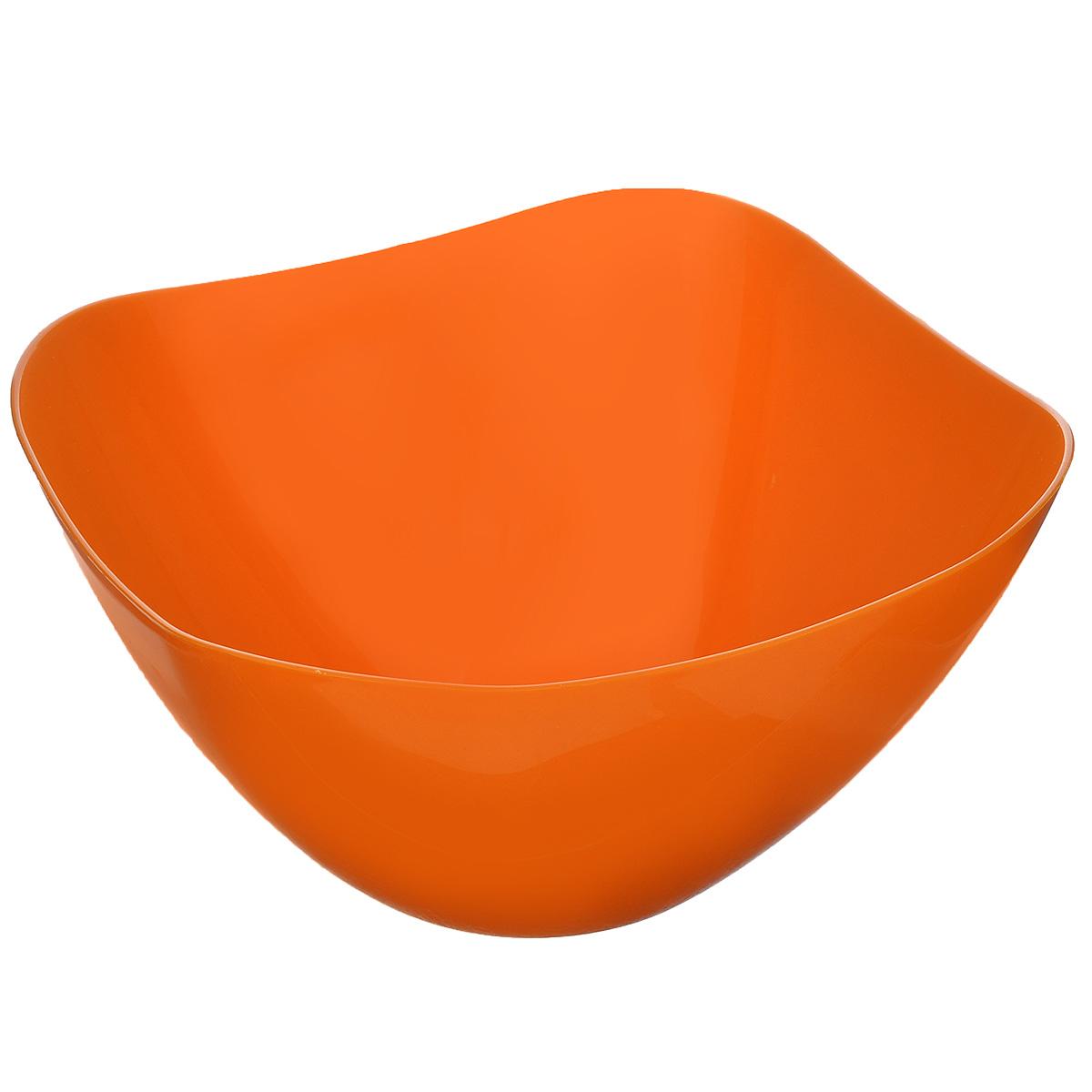 Салатник Berossi Funny, цвет: мандарин, 2 лИК07640000Салатник Berossi Funny изготовлен из пищевого пластика и предназначен для сервировки стола. В нем можно подать к столу конфеты, небольшие фрукты и ягоды. Такой салатник прекрасно подойдет для дачи или отдыха на природе.