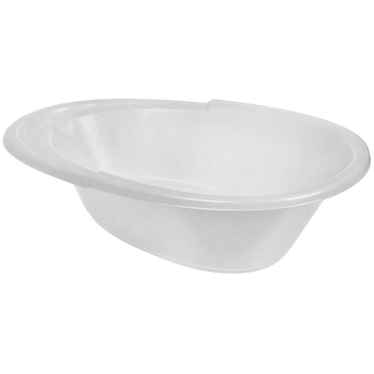 Ванна детская Пластишка, цвет: белыйС13265_белыйВместительная и удобная детская ванна Пластишка идеально подойдет для купания малыша. Ванна, изготовленная из прочного безопасного материала без содержания токсичных веществ, имеет удобные выемки для мыла и других принадлежностей. Дно ванны оформлено рельефным рисунком. Не содержит бисфенол А.