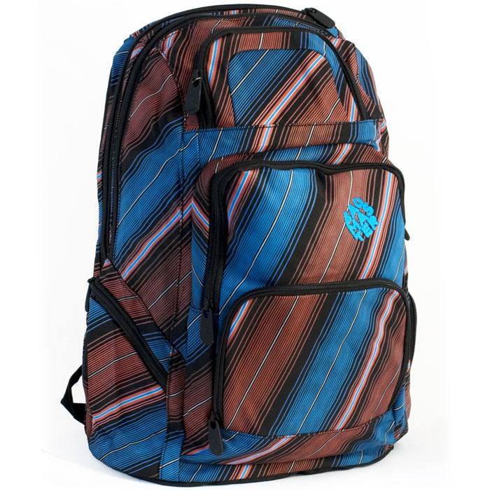 Рюкзак студенческий BagMaster PEAK 02, цвет: синий, красный. BM-PEAK 02 BBM-PEAK 02 BШкольный рюкзак из полиэстера с двумя внутренними отделениями и большим карманом на молнии на передней части. Во внутреннее отделение помещаются альбомы, тетради, контурные карты и так далее формата А4.