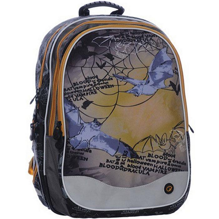 Рюкзак школьный BagMaster EV07 0115 B, цвет: коричневый. BM-EV07 0115 BBM-EV07 0115 BШкольный рюкзак из полиэстера с двумя внутренними отделениями и большим карманом на молнии на передней части. Во внутреннее отделение помещаются альбомы, тетради, контурные карты и так далее формата А4.