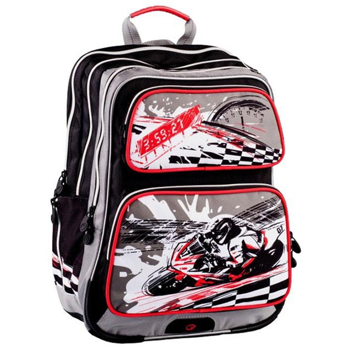 Рюкзак школьный BagMaster GOTSCHY, цвет: серый. BM-114 CBM-114 CШкольный рюкзак из полиэстера с двумя внутренними отделениями и большим карманом на молнии на передней части. Во внутреннее отделение помещаются альбомы, тетради, контурные карты и так далее формата А4.