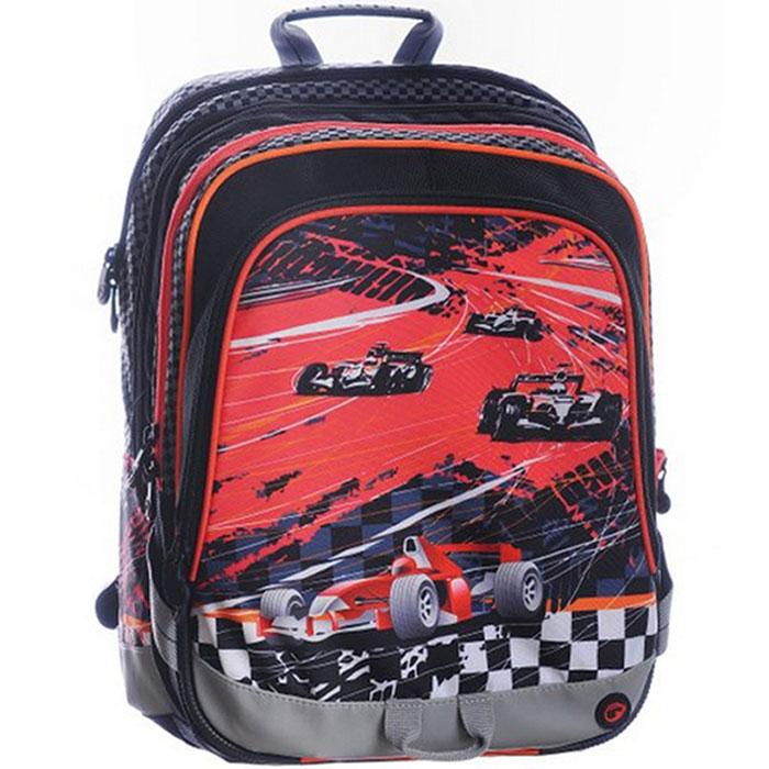 Рюкзак школьный BagMaster S1A 0115D, цвет: красный, черный. BM-S1A 0115 DBM-S1A 0115 DШкольный рюкзак из полиэстера с двумя внутренними отделениями и большим карманом на молнии на передней части. Во внутреннее отделение помещаются альбомы, тетради, контурные карты и так далее формата А4.