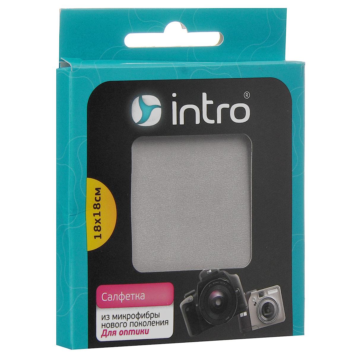 Салфетка для оптики Intro, 18 х 18 смV200250Салфетка Intro незаменима для деликатного ухода за оптикой, которая требует особого ухода. Подходит для экранов и объективов фотоаппаратов, мобильных телефонов, ноутбуков, биноклей, точной оптики, линз и стекол очков, зеркальных и других небольших поверхностей. Она состоит из тончайших волокон, которые в десять раз тоньше волокон натурального шелка, в тридцать - хлопка, в сорок - натуральной шерсти и в 100 раз тоньше человеческого волоса! А в связи с высокими очищающими свойствами салфетки ее использование позволяет сократить расход чистящих средств на 30-50 %.
