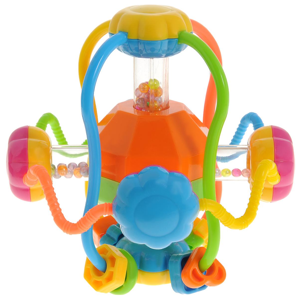 Погремушка-шар Mioshi ЛабиринтTY9051Погремушка-шар Mioshi Лабиринт - яркая погремушка для детей от 6 месяцев. Эта игрушка создаст очень благоприятное впечатление у ребенка и заинтересует своими звуками. Во время игры малыш получает возможность развивать координацию движений, слух, абстрактное воображение, внимательность, а множество цветных деталей надолго привлекают к себе внимание. Дети в раннем возрасте всегда очень любознательны, они тщательно исследуют все, что попадает им в руки. Считается, что геометрические фигуры в качестве первых игрушек ребенка являются наиболее удачным стартом для его дальнейшего обучения и развития. Заботясь о здоровье и безопасности малышей, Mioshi выпускает только качественную продукцию, которая прошла сертификацию.