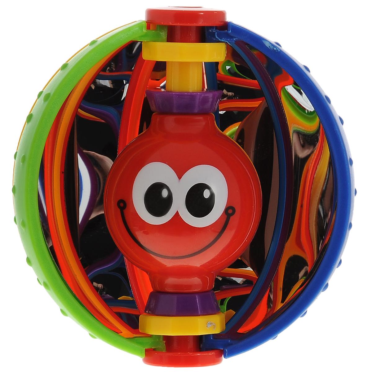 Погремушка Mioshi Волшебный шарTY9053Яркая, разноцветная, приятная на ощупь игрушка-погремушка Mioshi Волшебный шар с добрым смайликом обязательно понравится вашей крохе. При потряхивании смайлик издает звонкие гремящие звуки, что, несомненно, вызовет у детишек неподдельный интерес. В игровой форме малыш ознакомится с такими понятиями, как: звук, цвет и форма предмета, кроме того игрушка способствует развитию мелкой моторики. Дети в раннем возрасте всегда очень любознательны, они тщательно исследуют все, что попадает им в руки. Заботясь о здоровье и безопасности малышей, Mioshi выпускает только качественную продукцию, которая прошла сертификацию.