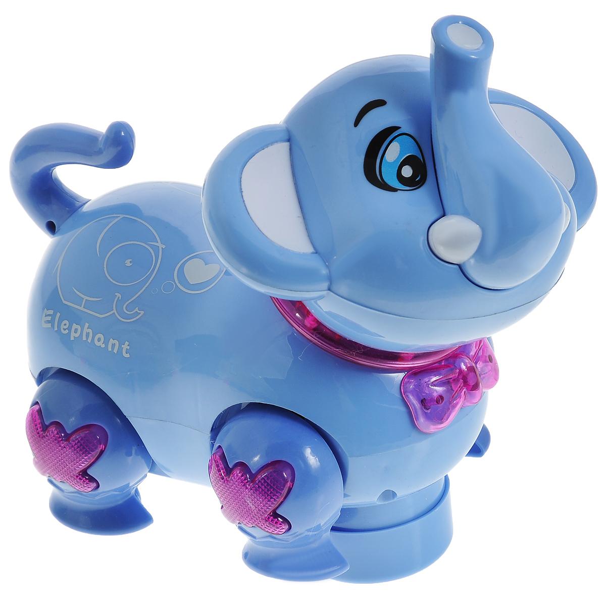 Игрушка Mioshi Active Зверята: Слоненок, цвет: голубойMAC0303-004Многофункциональная игрушка Mioshi Active Зверята: Слоненок со звуковыми и световыми эффектами - это отличный подарок для ребенка! При каждом движении слоненка активируются свето-звуковые эффекты, звучит приятная для слуха мелодичная песенка. При столкновении с препятствием слоненок меняет направление движения. Выполненная в приятной цветовой гамме, игрушка имеет разнообразные интерактивные элементы, которые стимулируют развитие зрительного, слухового и тактильного восприятия ребенка. Для работы требуются 3 батарейки AА (не входят в комплект).