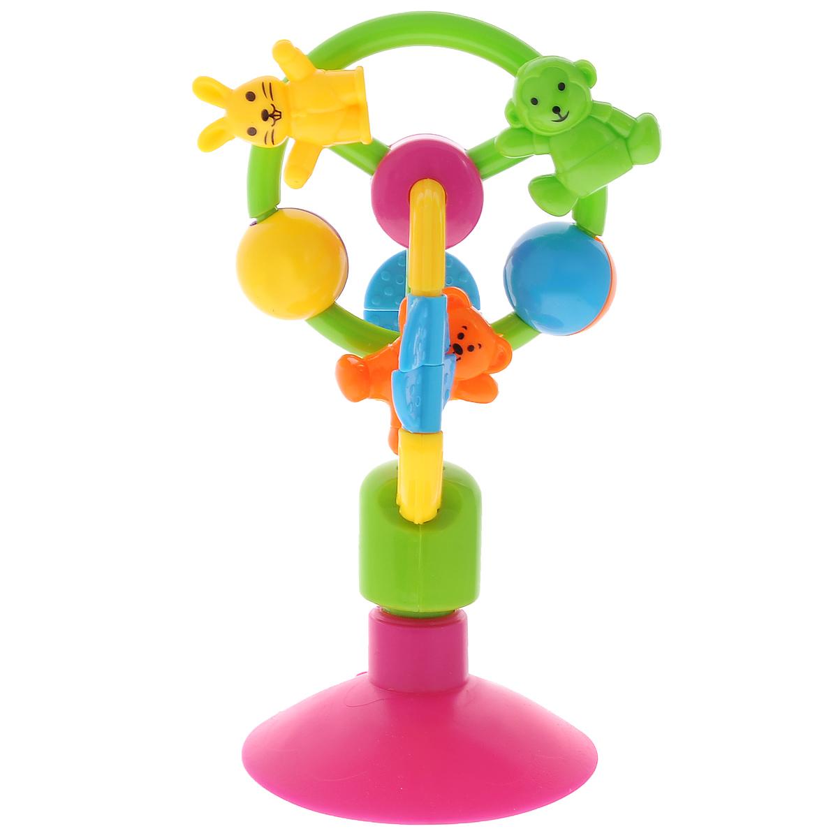 Погремушка-карусель Mioshi Зверюшки на КаруселиTY9027Погремушка-карусель Mioshi Зверюшки на Карусели - яркая погремушка для детей от 6 месяцев. Звонкие зверюшки порадуют малыша, привлекут внимание к себе и помогут развиваться весело и гармонично. Игрушка закрепляется при помощи присоски и карусель вращается. Во время игры малыш развивает мелкую моторику, восприятие формы и цвета предметов, а также слух и зрение. Дети в раннем возрасте всегда очень любознательны, они тщательно исследуют все, что попадает им в руки. Заботясь о здоровье и безопасности малышей, Mioshi выпускает только качественную продукцию, которая прошла сертификацию.