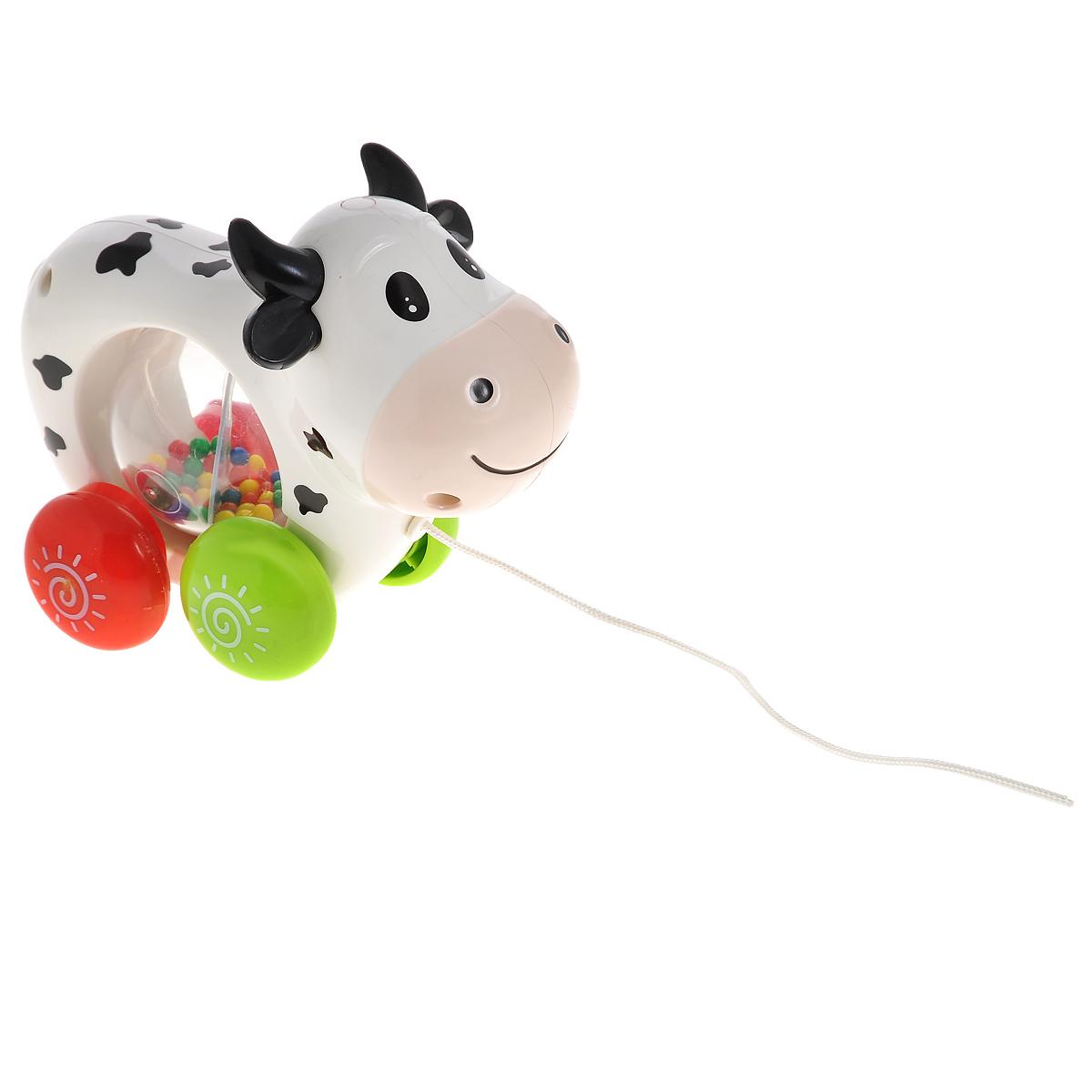 Малышарики Развивающая игрушка Питомец КороваMSH0303-018Развивающая игрушка Малышарики Питомец Корова поможет малышу ближе познакомиться с миром звуков. Игрушка развивает мелкую моторику и слуховое восприятие. Изделие выполнено в ярком дизайне из безопасных материалов. С первых месяцев жизни малыш начинает интересоваться яркими, подвижными предметами, ведь они являются его главными помощниками в изучении нашего удивительного мира. Забавная игрушка поможет малышу научиться фокусировать внимание. Стоит потянуть игрушку за веревочку и малыш услышит забавную песню и мычанье коровы. В центре питомца располагается прозрачная сфера с разноцветными шариками внутри, которые при движении издают гремящий звук. Рекомендуется докупить 3 батарейки напряжением 1,5V типа АG13 (товар комплектуется демонстрационными).