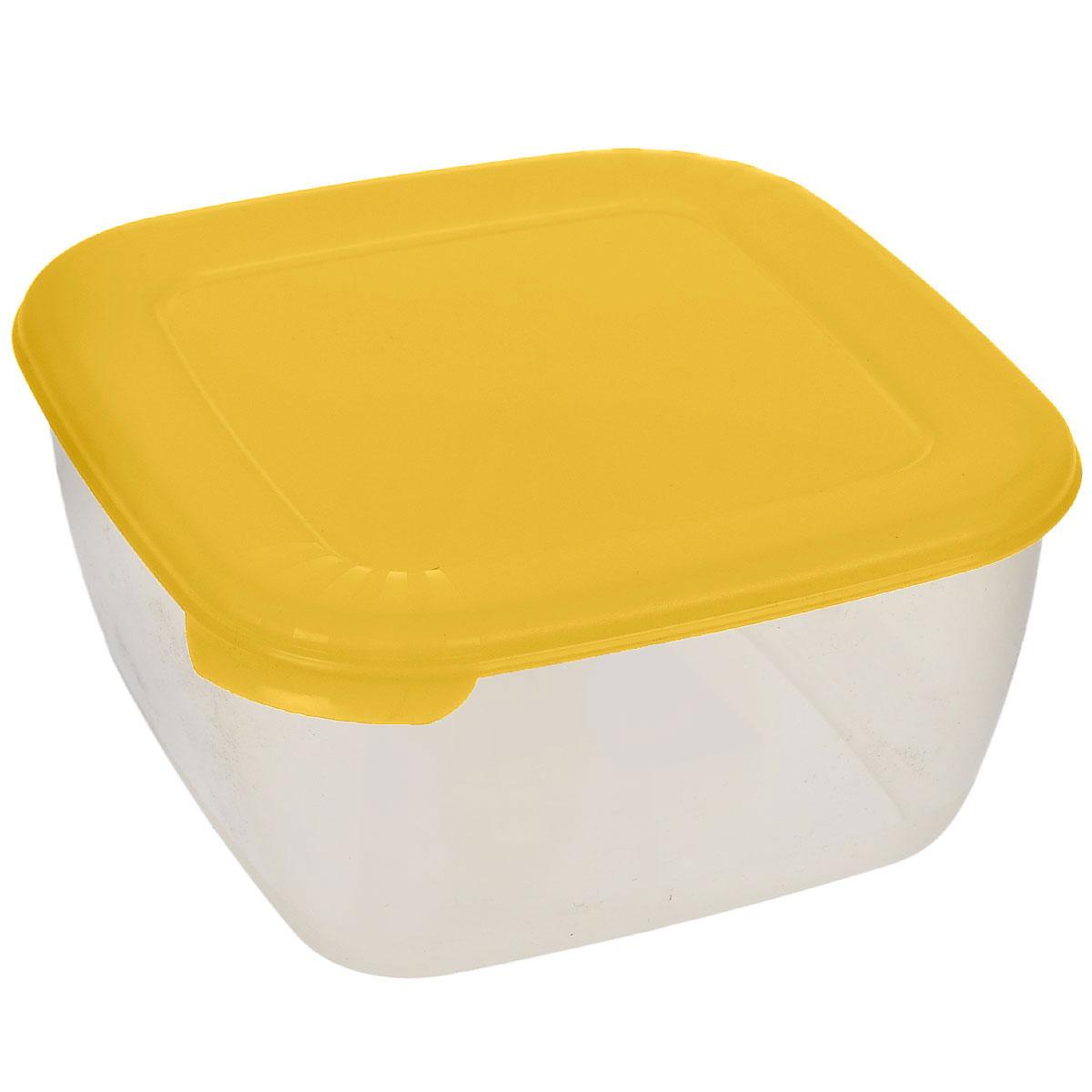 Контейнер для СВЧ Полимербыт Лайт, цвет: прозрачный, желтый, 950 млС541_желтыйКонтейнер Полимербыт Лайт квадратной формы, изготовленный из прочного пластика, предназначен специально для хранения пищевых продуктов. Крышка легко открывается и плотно закрывается. Контейнер устойчив к воздействию масел и жиров, легко моется. Прозрачные стенки позволяют видеть содержимое. Контейнер имеет возможность хранения продуктов глубокой заморозки, обладает высокой прочностью. Можно мыть в посудомоечной машине. Контейнер подходит для использования в микроволновой печи без крышки, а также для заморозки в морозильной камере.
