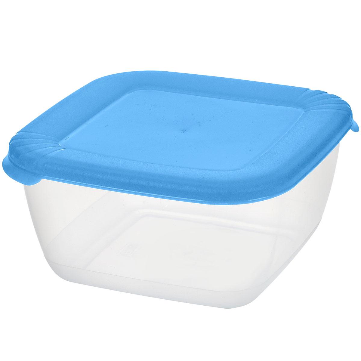 Контейнер для СВЧ Полимербыт Лайт, цвет: прозрачный, голубой, 0,46 лС542_голубойКвадратный контейнер для СВЧ Полимербыт Лайт изготовлен из высококачественного прочного пластика, устойчивого к высоким температурам до + 120°С. Яркая цветная крышка плотно закрывается, дольше сохраняя продукты свежими и вкусными. Контейнер идеально подходит для хранения пищи, его удобно брать с собой на работу, учебу, пикник или просто использовать для хранения пищи в холодильнике. Можно использовать в микроволновой печи и для заморозки в морозильной камере при минимальной температуре -40°С. Можно мыть в посудомоечной машине.