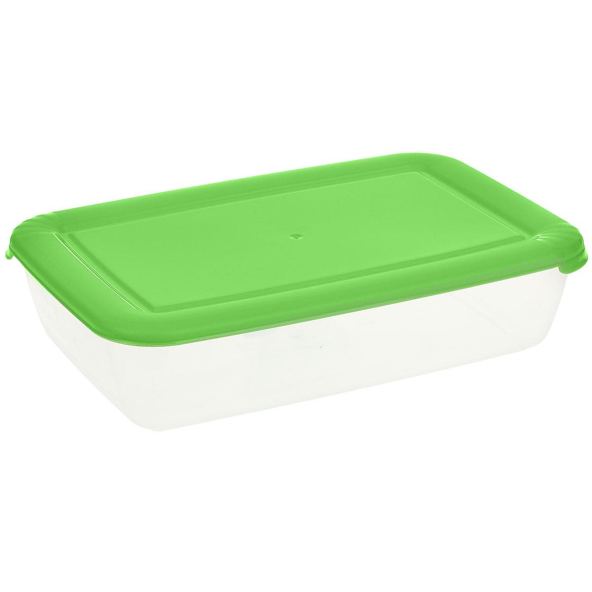 Контейнер Полимербыт Лайт, цвет: прозрачный, салатовый, 1,9 лС553_салатовыйКонтейнер Полимербыт Лайт прямоугольной формы, изготовленный из прочного пластика, предназначен специально для хранения пищевых продуктов. Крышка легко открывается и плотно закрывается. Контейнер устойчив к воздействию масел и жиров, легко моется. Прозрачные стенки позволяют видеть содержимое. Контейнер имеет возможность хранения продуктов глубокой заморозки, обладает высокой прочностью. Можно мыть в посудомоечной машине. Подходит для использования в микроволновых печах.