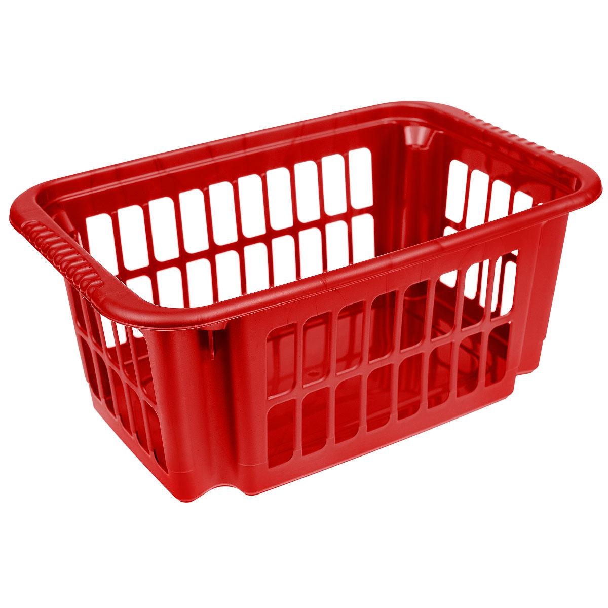 Корзина универсальная Алеана, цвет: красный, 47 х 30,5 х 20 см122059_красныйКорзина универсальная Алеана изготовлена из прочного пластика. Она отлично подойдет для хранения белья перед стиркой. Большое количество отверстий на стенках корзины создает идеальные условия для проветривания. Такая корзина для белья прекрасно впишется в интерьер ванной комнаты.