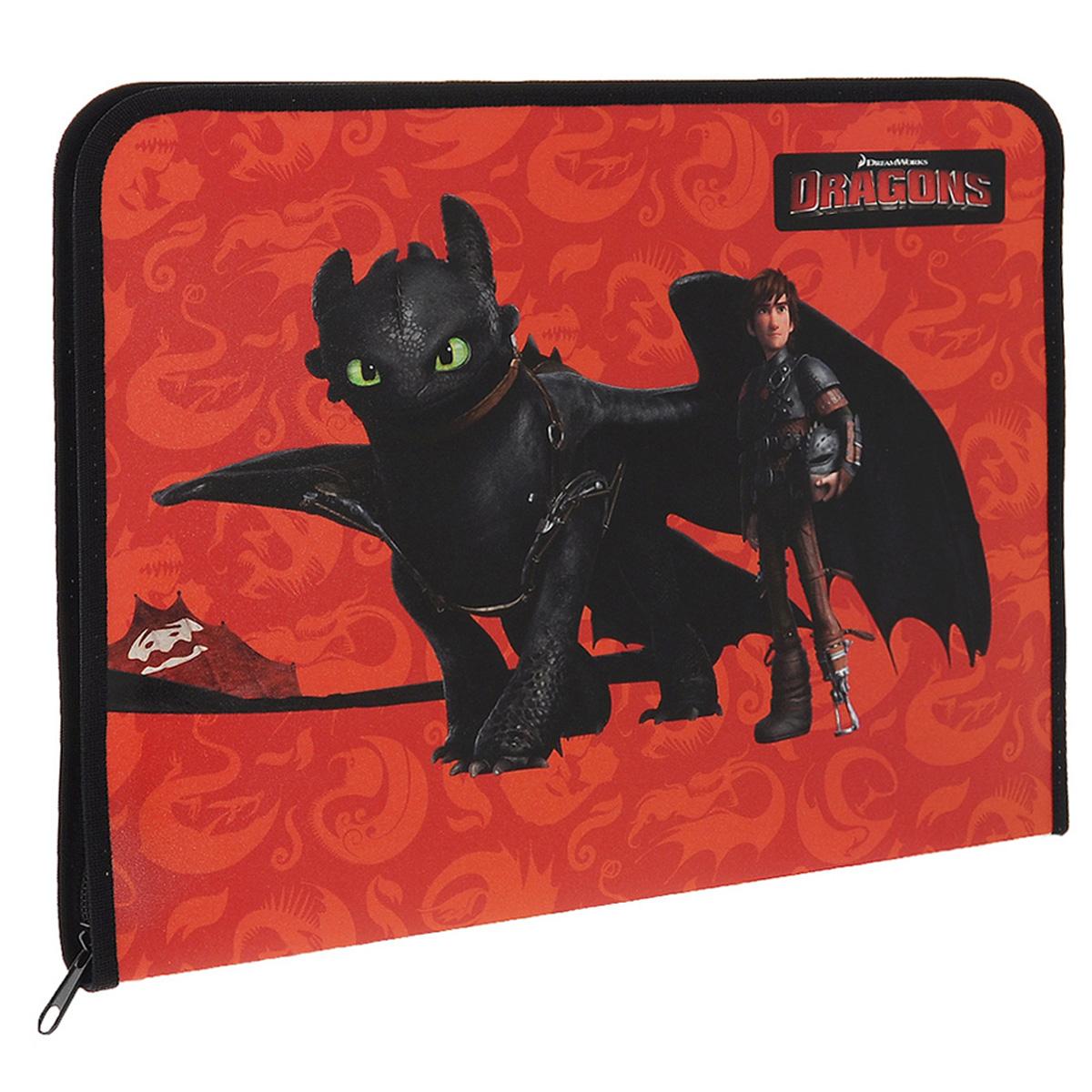 Action! Папка для труда Dragons цвет оранжевый черныйDR-FZA4-L_черный, оранжевыйПапка для труда Action! Dragons предназначена для хранения тетрадей, рисунков и прочих бумаг формата А4, а также ручек, карандашей, ластиков и точилок. Папка оформлена изображением Иккинга и Беззубика - персонажей мультфильма Как приручить дракона. Внутри находится вкладыш, содержащий 10 фиксаторов для школьных принадлежностей. Закрывается папка на застежку-молнию. Яркая и удобная, такая папка непременно понравится вашему ребенку.