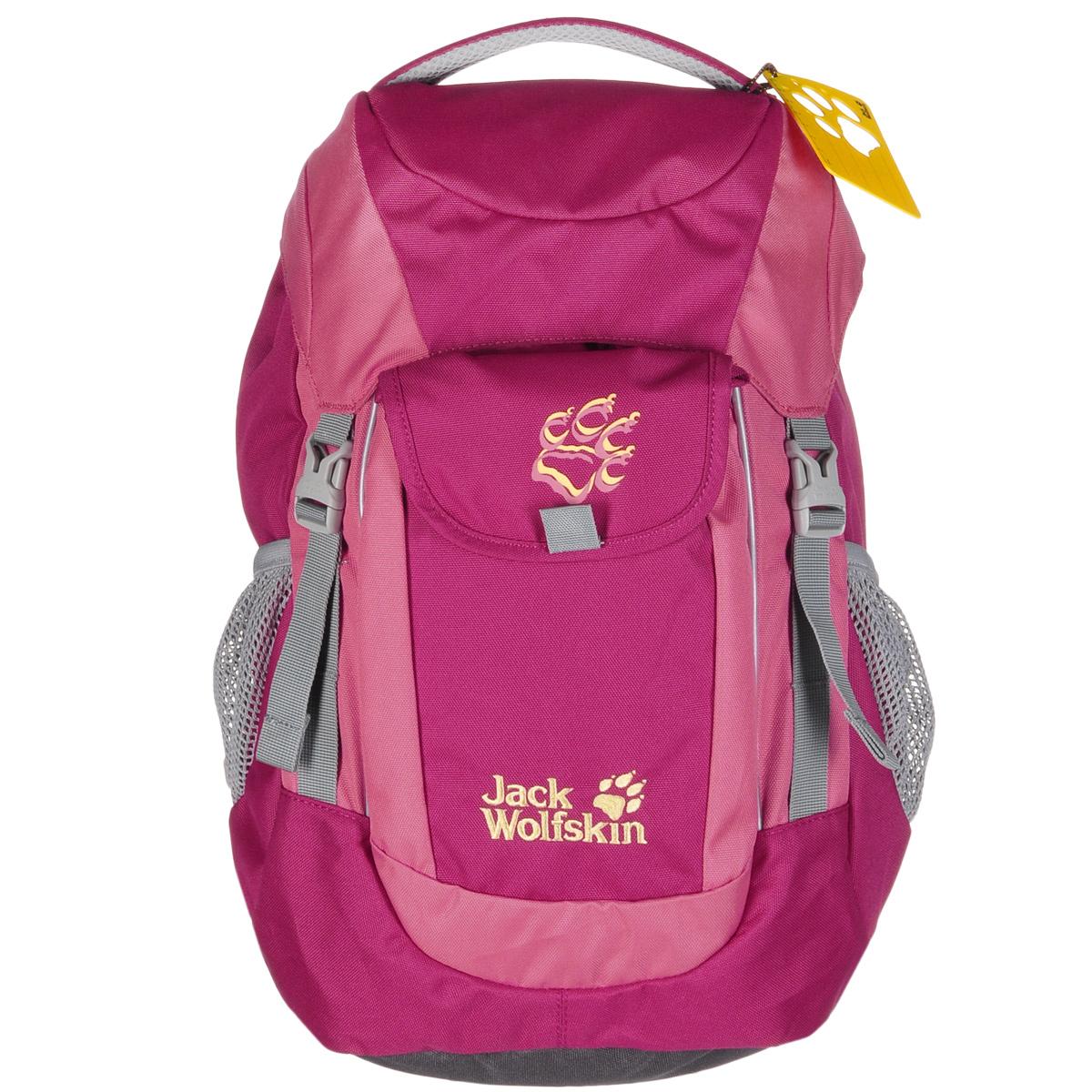 Рюкзак городской женский Jack Wolfskin Kids Explorer, цвет: розовый, 16 л2000861-2081Аккуратный походный рюкзак Jack Wolfskin Kids Explorer с объемом 16 литров прекрасно подойдет для любых целей. Вынимающийся коврик-подстилка очень практичен во время остановок в пути. Мягкие и удобные плечевые ремни позволяют равномерно распределить груз, а посередине подушки спины предусмотрен специальный вентиляционный канал. Отражатели на передней и задней стороне. В основном отделении находятся карабин для ключей и именная табличка.