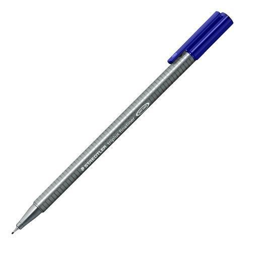 Капиллярная ручка Triplus Liner 0,3мм, синий, Staedtler. 3 шт. Блистер334-3BK3