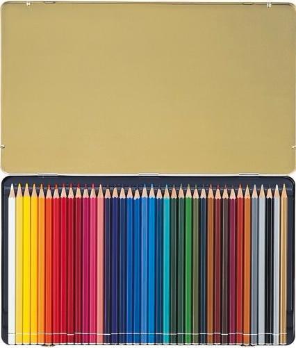 Набор цветных карандашей с тонким грифелем STABILO Original для графиков, художников 38 цв, металлический футляр8778-6Все творческие натуры хотят иметь в своем распоряжении только лучшее. Представленный STABILO ассортимент и очень широкая палитра цветов способны удовлетворить самые разные потребности сторонников всевозможных техник рисования. Высококачественные, насыщенные красители гарантируют тонкую проработку цвета. все карандаши обеспечивают легкую смешиваемость красок, мягкие, однородные по цвету линии. Высокая степень пигментации гарантирует особую яркость цвета и исключительную покрывающую способность даже на темном фоне, а также высокую устойчивость к свету. Краски STABILO не блекнут со временем. Светоустойчивость карандашей обозначается различным количеством звездочек на корпусе: от 5 звездочек - высокая степень светоустойчивости до 1 звездочки - достаточная светоустойчивость.