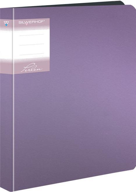 Папка со скоросшивателем, А4, р=0.7мм, PERLEN, пружин.скоросш., карман, Metallic, сиреневая арт.281901-73 ед.изм.Шт281901-73Серия: PERLEN