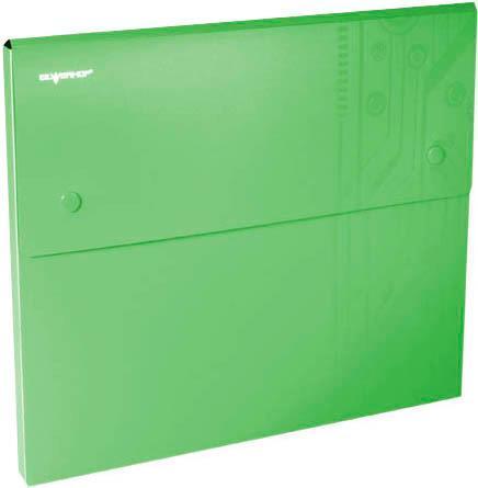 Папка-конверт, на 2-х кнопках, 0. 7 мм, DISCOVERY, 4 отделения, каскадная, карман для CD, отделение для визитки, зеленый арт. 255037-03 ед. изм. Шт