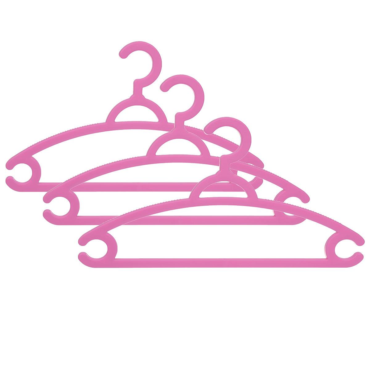 Набор вешалок для легкой одежды М-пластика, цвет: розовый, 3 штМ 2212_розовыйНабор М-пластика, выполненный из легкого и прочного пластика, состоит из трех вешалок. Изделия оснащены перекладинами и двумя крючками. Вешалка - это незаменимая вещь для того, чтобы ваша одежда всегда оставалась в хорошем состоянии. Комплектация: 3 шт.