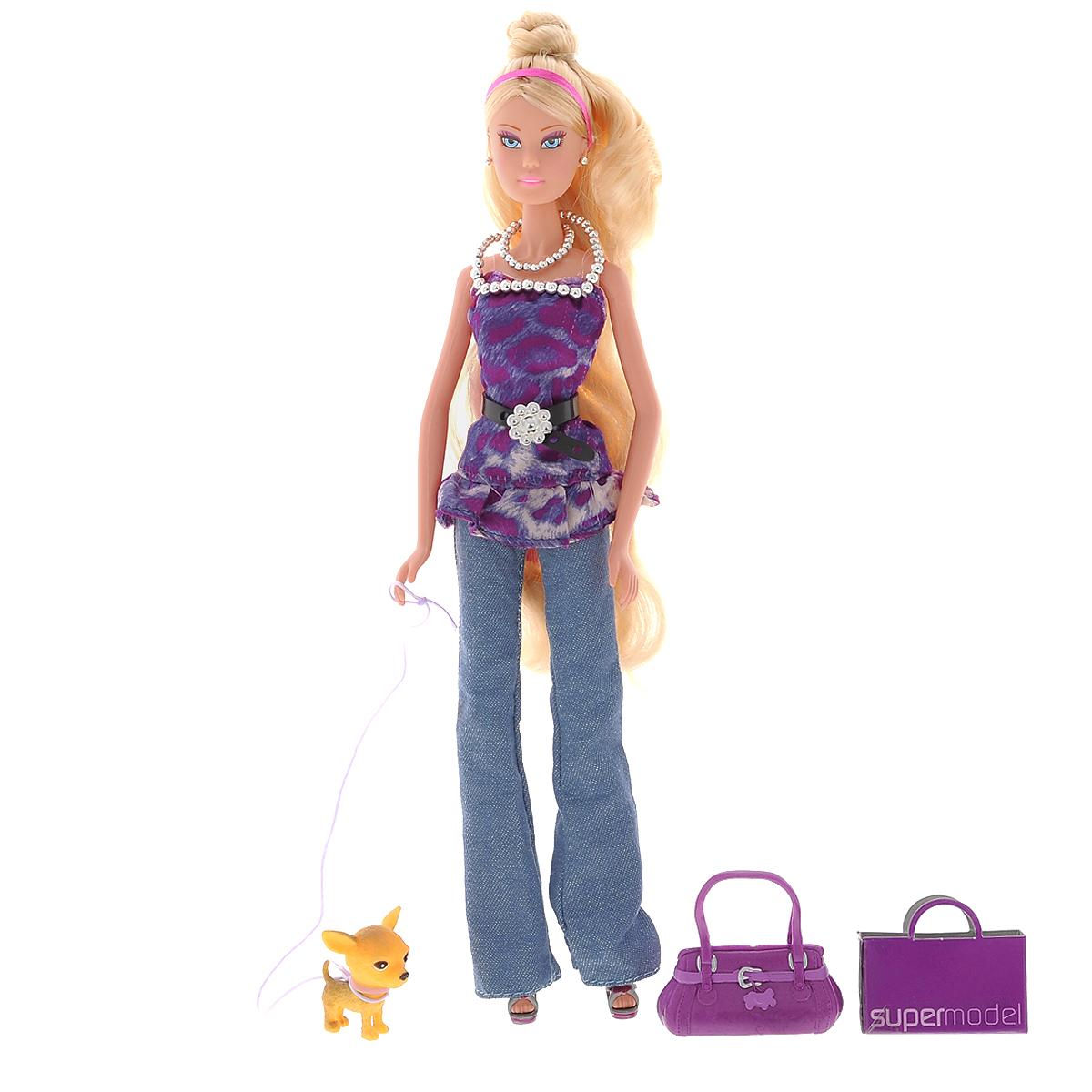 Simba Кукла Штеффи - пурпурная супермодель5737295Кукла Simba Штеффи - пурпурная супермодель надолго займет внимание вашей малышки и подарит ей множество счастливых мгновений. Кукла изготовлена из прочного материала, ее голова, ручки и ножки подвижны, что позволяет придавать ей разнообразные позы. Стильная кукла Штеффи собирается на прогулку со своей собачкой. Штеффи-пурпурная супермодель одевается по последней моде, поэтому в ее наряде так много сиреневого цвета. Ведь это самый актуальный цвет в этом сезоне! Для вашей малышки в наборе тоже найдется модный аксессуар - ожерелье на шелковой веревочке.