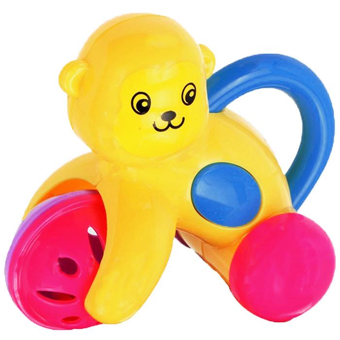 Погремушка Малышарики Цирковая обезьянкаMSH0302-017Яркая и красочная погремушка Малышарики Цирковая обезьянка обязательно привлечет внимание малыша и поможет ему начать познавать мир, развивая необходимые в будущем навыки и способности. Погремушка выполнена из безопасных материалов в виде озорной обезьянки. Хвостик обезьянки - это удобная ручка, за которую ребенок сможет держаться. Кнопки на боках обезьянки издают писк при нажатии. Забавная погремушка поможет малышу научиться фокусировать внимание, держать предметы, различать звуки, а также познакомит с формами и цветами. С первых месяцев жизни малыш начинает интересоваться яркими, подвижными предметами, ведь они являются его главными помощниками в изучении удивительного мира. Погремушка развивает мелкую моторику и слуховое восприятие.