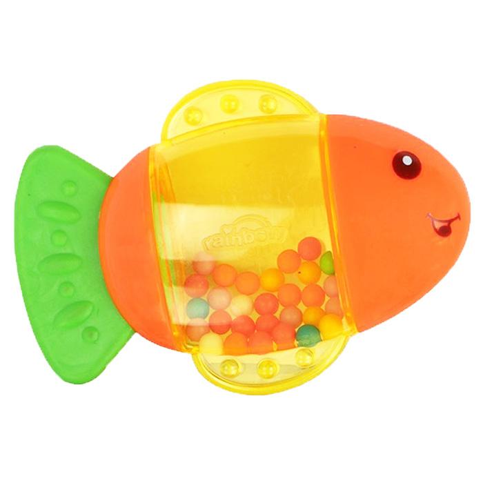 Погремушка Малышарики Маленькая рыбкаMSH0302-023Яркая и красочная погремушка Малышарики Маленькая рыбка обязательно привлечет внимание малыша и поможет ему начать познавать мир, развивая необходимые в будущем навыки и способности. Погремушка выполнена из безопасных материалов в виде очаровательной рыбки. Хвостик рыбки является прорезывателем, который будет массировать десна малыша благодаря своей рельефной поверхности. При встряхивании разноцветные шарики в прозрачном окошке гремят и перекатываются. Забавная погремушка поможет малышу научиться фокусировать внимание, держать предметы, различать звуки, а также познакомит с формами и цветами. С первых месяцев жизни малыш начинает интересоваться яркими, подвижными предметами, ведь они являются его главными помощниками в изучении удивительного мира. Погремушка развивает мелкую моторику и слуховое восприятие.