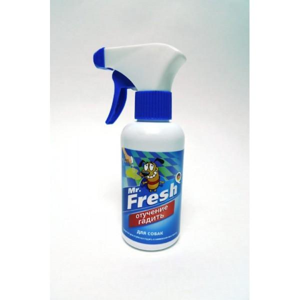 Mr.Fresh Отучение гадить для собак 200 мл спрей36041Спрей быстро и эффективно отучит питомца справлять свою нужду и наносить метки в неположенных для этого местах. Спрей подходит для применения как в помещениях, так и на открытом воздухе.