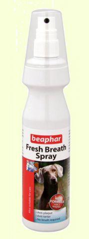 BeapharFresh Breath Spray спрей для чистки зубов и освежения дыхания у собак 150 мл45971Спрей для свежего дыхания Fresh Breath Spray – легкий в применении продукт, который поддержит гигиену ротовой полости вашего любимца и поможет сохранить чистоту его зубов.