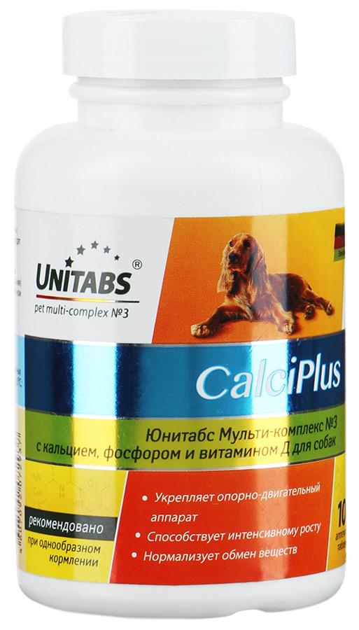 Unitabs CalciPlus с кальцием, фосфором и вит. Д для собак, 100 таб.