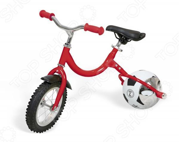 Велосипед детский Bradex Велоболл De 0050 RedDE 0050Настроение ребенка меняется порой так стремительно, что за ним не уследить. Окружающий мир так интересен, что хочется попробовать сразу все - и баскетбол, и футбол, и волейбол. Как быть? Всего в руках не уместишь. Представляем беговел с колесами в виде мячей! Оригинальный беговел позволит вашему ребенку не расставаться со спортом. Шикарное средство передвижения ни в чем не уступает обычному беговелу, а, наоборот, освобождает руки ребенка, чтобы он мог крепко держаться за руль. Отправляйтесь на тренировку со своими мячами «на легке». И больше никаких разбросанных по дому мячей – они будут аккуратно стоять в углу квартиры – вместе с беговелом.