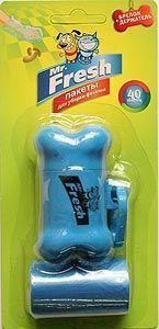 Mr.Fresh Пакеты для уборки фекалий с брелком-держателем 40шт.52416Надежные и прочные пакеты Mr.Fresh предназначены для уборки фекалий и других отходов домашних животных. В комплект входят 2 рулона и удобный брелок-держатель.