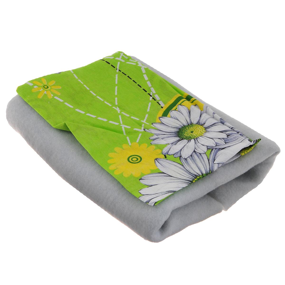 Чехол для гладильной доски Detalle, цвет: зеленый, желтый, 125 х 47 смЕ1301Чехол для гладильной доски Detalle, выполненный из хлопка с подкладкой из мягкого войлочного материала, предназначен для защиты или замены изношенного покрытия гладильной доски. Чехол снабжен стягивающим шнуром, при помощи которого вы легко отрегулируете оптимальное натяжение чехла и зафиксируете его на рабочей поверхности гладильной доски. Этот качественный чехол обеспечит вам легкое глажение. Размер чехла: 125 см x 47 см. Максимальный размер доски: 120 см х 42 см. Размер войлочного полотна: 130 см х 52 см.