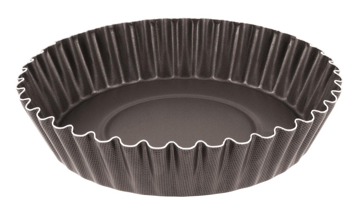 Форма для пирога Tefal Natura, с волнистыми краями, диаметр 26 см2100067169Форма для пирога Tefal Natura с волнистыми краями выполнена из переработанного алюминия, обладающего большой износостойкостью и надежностью, и не содержащего вредных для организма веществ (PFOA, кадмий, свинец). Технология Cuisson Homogene способствует оптимальному распределению тепла. Антипригарное покрытие Demoulage Parfait не даст пригореть выпечке, способствует оптимальному пропеканию теста. Форму легко чистить и мыть. Можно мыть в посудомоечной машине. Диаметр формы: 26 см. Высота стенок формы: 6 см.