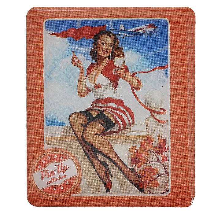 Декоративный магнит Девушка с зеркальцем, 6 см х 5 см. 3153231532Декоративный магнит прямоугольной формы Девушка с зеркальцем выполнен из агломерированного феррита и оформлен изображением девушки в стиле Pin up. Магнит отлично подойдёт для декорирования Вашего интерьера. А так же станет приятным и необычным подарком для друзей.