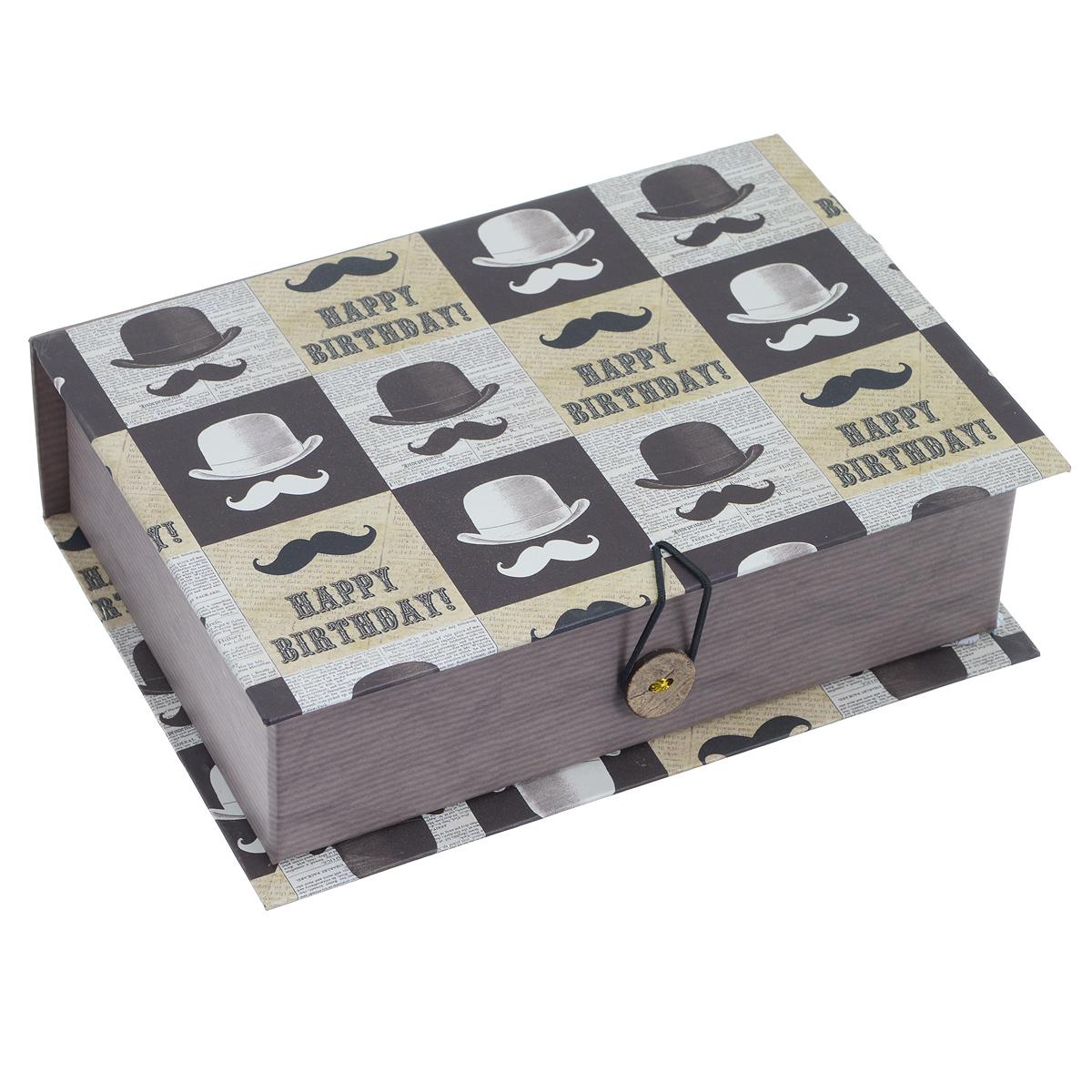 "Феникс-Презент Подарочная коробка ""Усы и шляпа"", 18 х 12 х 5 см 39462"