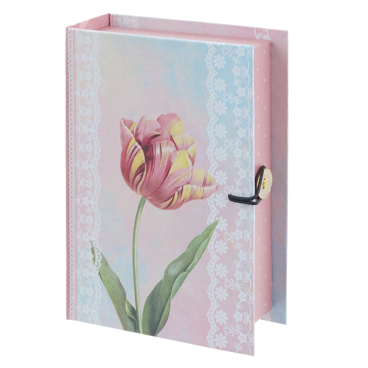 Подарочная коробка Тюльпан, 18 х 12 х 5 см39464Подарочная коробка Тюльпан выполнена из плотного картона. Изделие оформлено изображением тюльпана, сбоку имеется надпись С самыми нежными чувствами.... Коробка закрывается на пуговицу. Подарочная коробка - это наилучшее решение, если вы хотите порадовать ваших близких и создать праздничное настроение, ведь подарок, преподнесенный в оригинальной упаковке, всегда будет самым эффектным и запоминающимся. Окружите близких людей вниманием и заботой, вручив презент в нарядном, праздничном оформлении. Плотность картона: 1100 г/м2.