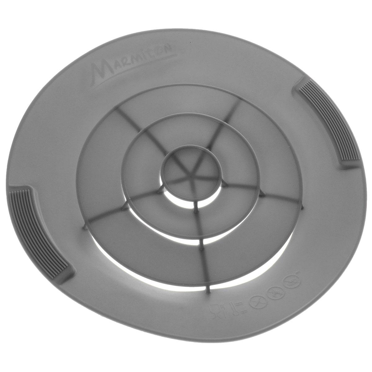 """Крышка силиконовая от накипи """"Marmiton"""", цвет: серый. Диаметр 28 см"""