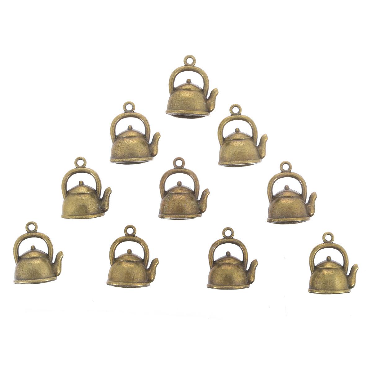 Набор подвесок ScrapBerrys Чайничек, цвет: бронзовый, 20 мм х 16,5 мм, 10 штSCB25013621Набор ScrapBerrys Чайничек состоит из 10 декоративных подвесок, выполненных из металла. Изделия предназначены для создания бижутерии, их также можно использовать для украшения альбомов, рамок, декоративных коробок. Подвески ScrapBerrys помогут воплотить вашу творческую задумку и создать оригинальную неповторимую бижутерию. Изготовление украшений - занимательное хобби и реализация творческих способностей рукодельницы. Радуйте себя и своих близких украшениями, сделанными своими руками!