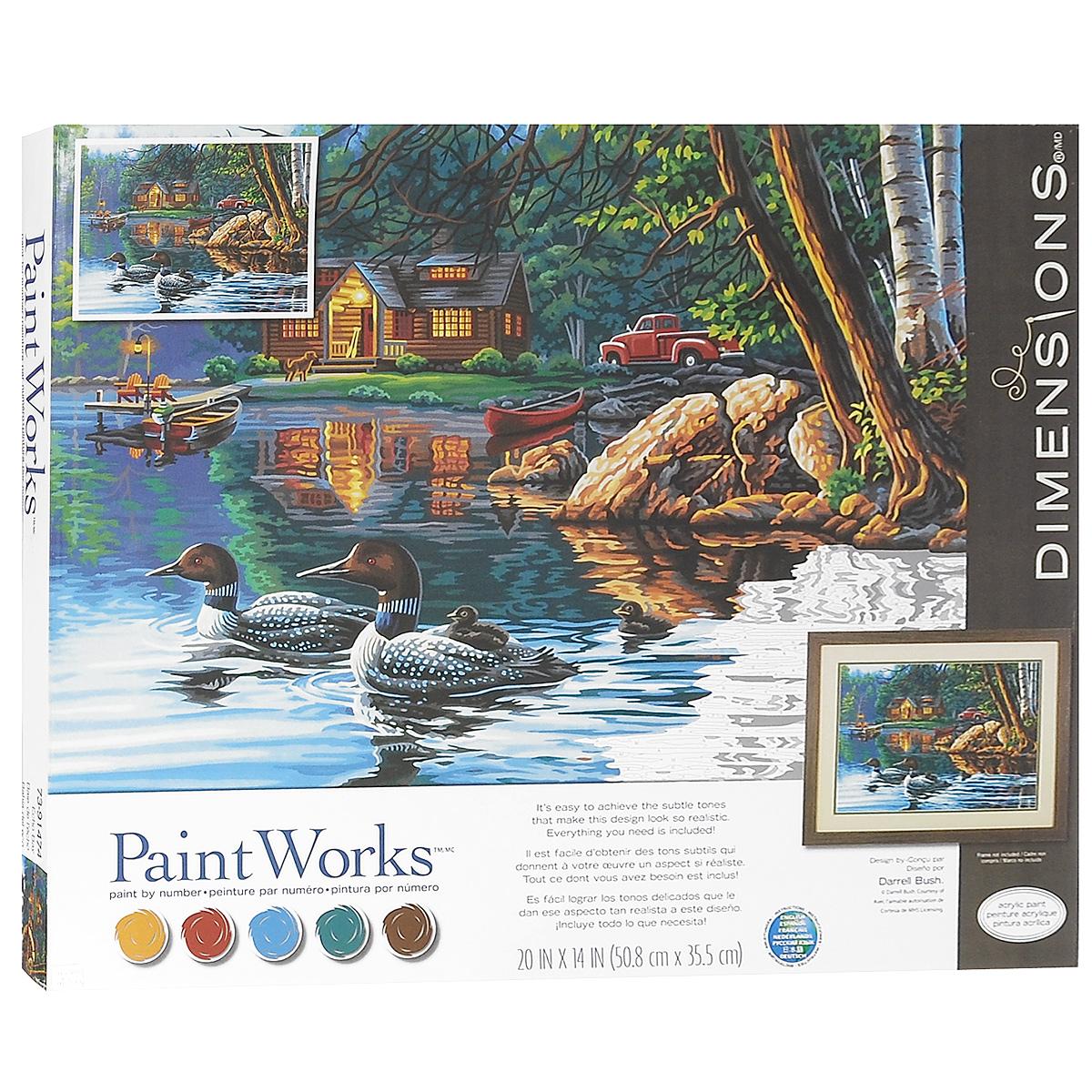 Набор для раскрашивания PaintWorks Эхо залива, 51 х 36 смDMS-73-91474Набор для раскрашивания PaintWorks Эхо залива поможет вам создать свой личный шедевр - красивую картину, нарисованную акриловыми красками. С таким набором очень легко самостоятельно написать потрясающую картину, даже если вы этого никогда не делали. С помощью инструкции закрашивайте области по цветовым номерам. Набор для раскрашивания прекрасно подойдет как для школьников, так и для взрослых. В набор входят: - акриловые краски, - фактурный картон с нанесенным контуром рисунка, - кисть, - инструкция на русском языке. УВАЖАЕМЫЕ КЛИЕНТЫ! Обращаем ваше внимание, на тот факт, что рамка в комплект не входит, а служит для визуального восприятия товара.