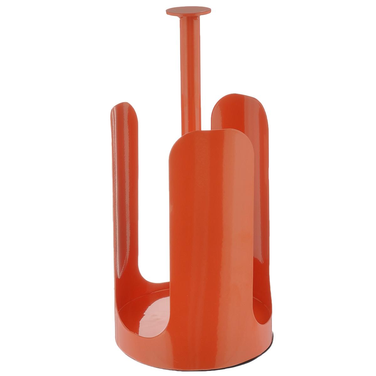 Держатель для бумажных полотенец Sagaform Kitchen, цвет: оранжевый, высота 27 см5016477_оранжевыйДержатель для бумажных полотенец Sagaform Kitchen изготовлен из высококачественной стали. Круглое основание держателя и специальная прослойка на дне гарантирует устойчивость. Рулоны накладываются сверху. Вы можете установить его в любом удобном месте. Такой держатель станет полезным аксессуаром в домашнем быту и идеально впишется в интерьер современной кухни. Рулон в комплект не входит.