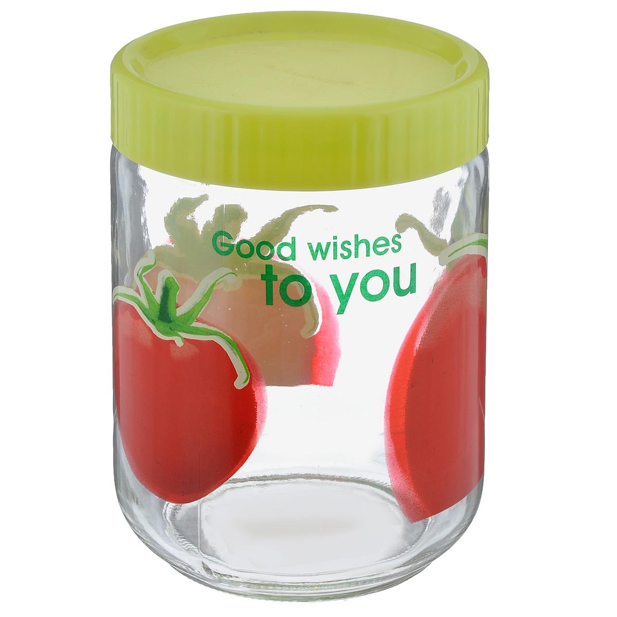 Банка для сыпучих продуктов Lilac, цвет: прозрачный, салатовый, красный, 1,2 лLLSE71200_салатовыйБанка Lilac изготовлена из стекла. Емкость снабжена пластиковой крышкой, которая плотно и герметично закрывается, дольше сохраняя аромат и свежесть содержимого. Банка подходит для хранения сыпучих продуктов: круп, специй, сахара, соли. Такая банка станет полезным приобретением и пригодится на любой кухне.
