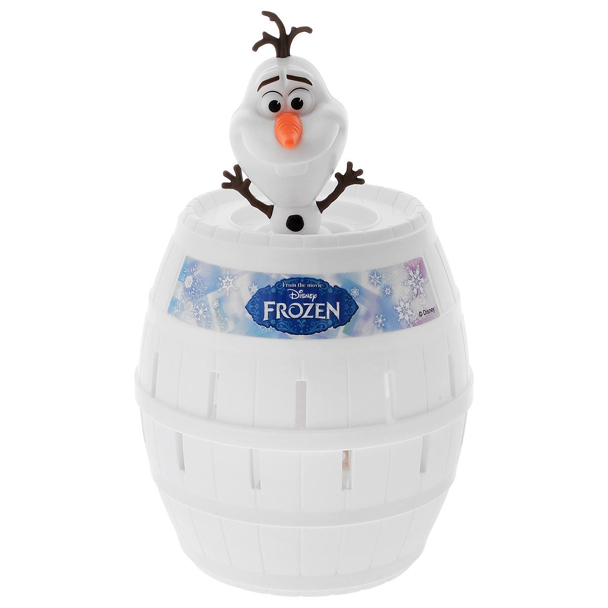 Игровой набор Disney Frozen Освободи ОлафаT72389Игровой набор Disney Frozen Освободи Олафа - это прекрасный подарок для вашего ребенка. Игрушка выполнена из качественных материалов. Набор включает в себя Олафа, бочонок, льдинки и лист с наклейками. Для игры необходимо отделить льдинки от рамки, приклеить наклейки на внешнюю и обратную сторону льдинки и посадить Олафа в бочонок. Теперь приготовьтесь к взрыву смеха и веселья с этой увлекательной игрой, которая заставит игроков затаить дыхание в ожидании развязки - чья льдинка освободит Олафа из бочонка. Ваш ребенок часами будет играть с этим набором, придумывая различные истории. Порадуйте его таким замечательным подарком! Количество игроков: от 2 до 4.