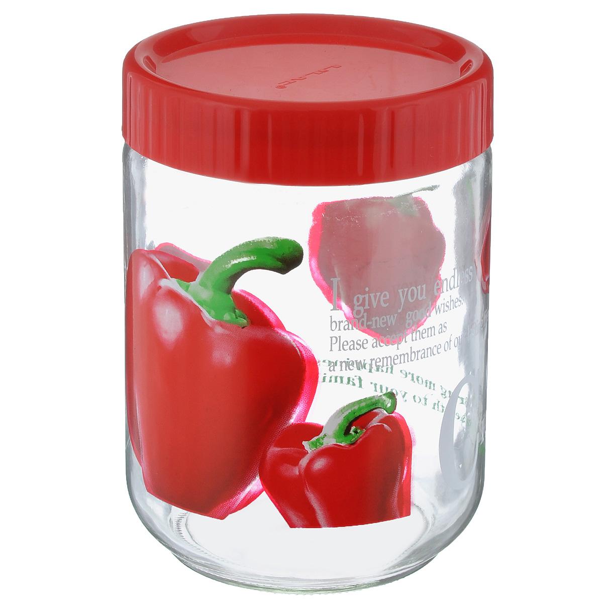 Банка для сыпучих продуктов Lilac, цвет: прозрачный, красный, 1,2 лLLSE71200_красныйБанка Lilac изготовлена из стекла. Емкость снабжена пластиковой крышкой, которая плотно и герметично закрывается, дольше сохраняя аромат и свежесть содержимого. Банка подходит для хранения сыпучих продуктов: круп, специй, сахара, соли. Такая банка станет полезным приобретением и пригодится на любой кухне.